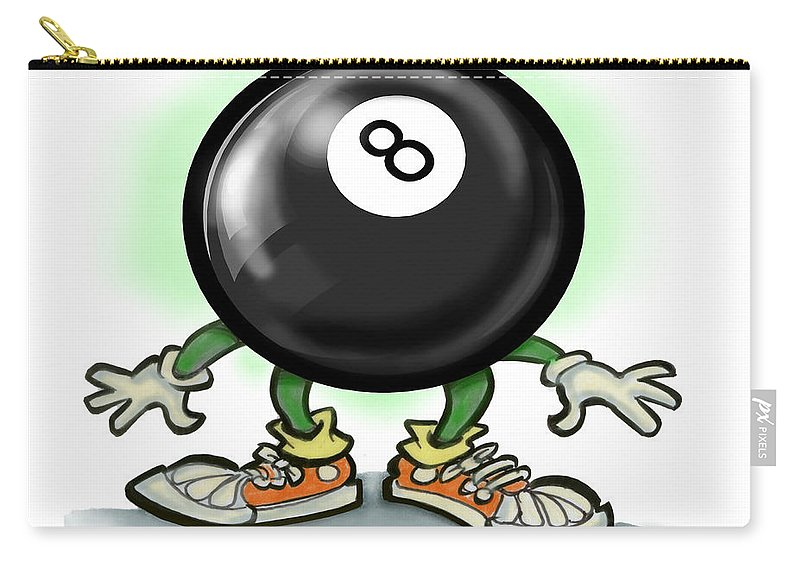 Eightball Carry-all Pouch featuring the greeting card Eightball by Kevin Middleton
