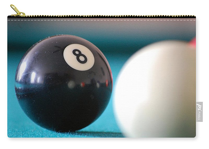 Billiards Carry-all Pouch featuring the photograph Eightball by Robert Meanor