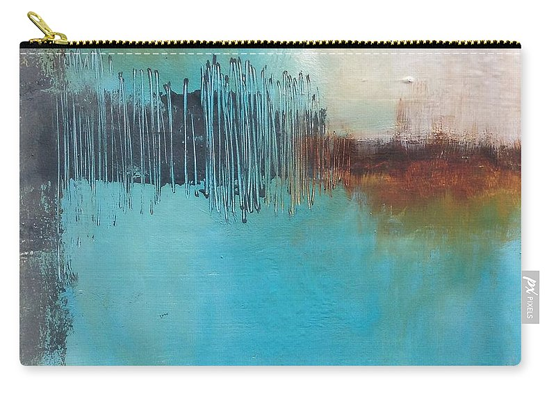 Abstract Carry-all Pouch featuring the painting Eighteen Eighty Six by Petra Lea