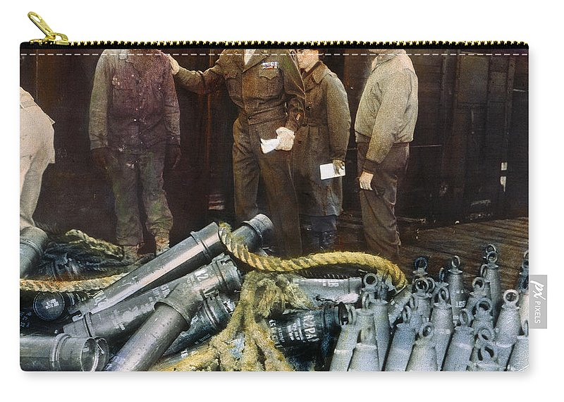 1944 Carry-all Pouch featuring the photograph Eisenhower: Wwii, C1944 by Granger