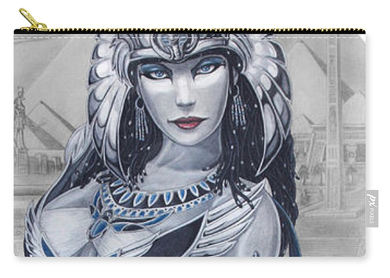 Egypt Carry-all Pouch featuring the drawing Ejo Nefersati by Kristopher VonKaufman