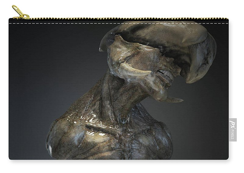 Digital Carry-all Pouch featuring the sculpture El Luque by Ryan Darling