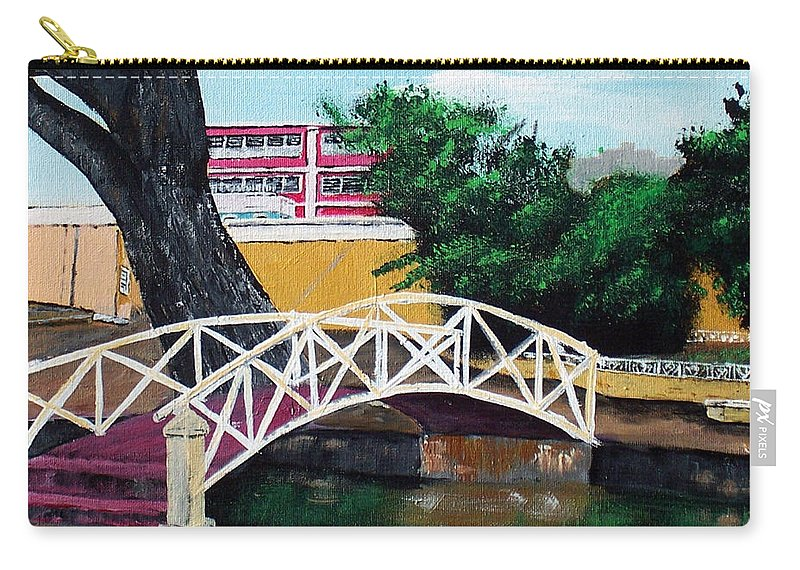 Aguadilla Carry-all Pouch featuring the painting El Parterre by Luis F Rodriguez