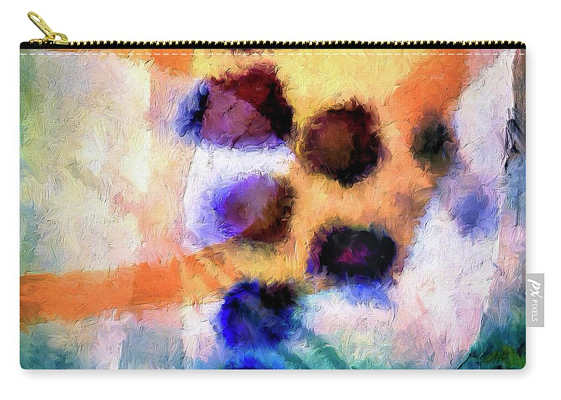 Abstract Carry-all Pouch featuring the painting El Paso Del Tiempo by Dominic Piperata
