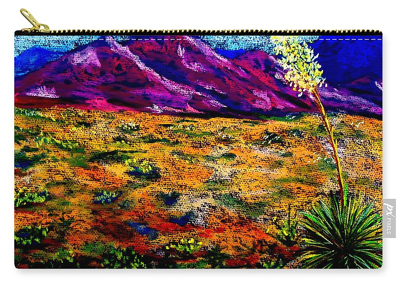 Yucca Carry-all Pouch featuring the painting El Paso by Melinda Etzold