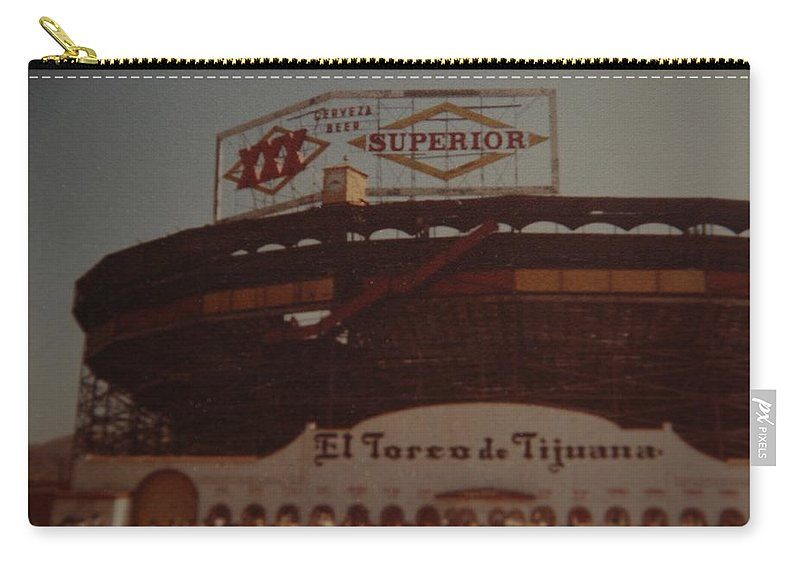 Tijuana Mexico Carry-all Pouch featuring the photograph El Toreo De Tijuana by Rob Hans