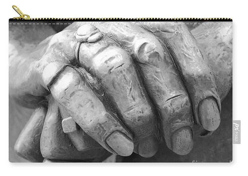 Elderly Carry-all Pouch featuring the photograph Elderly Hands by Jost Houk