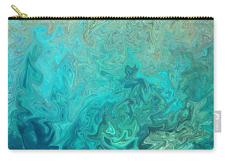 Seascape Carry-all Pouch featuring the photograph Electric by Athala Carole Bruckner