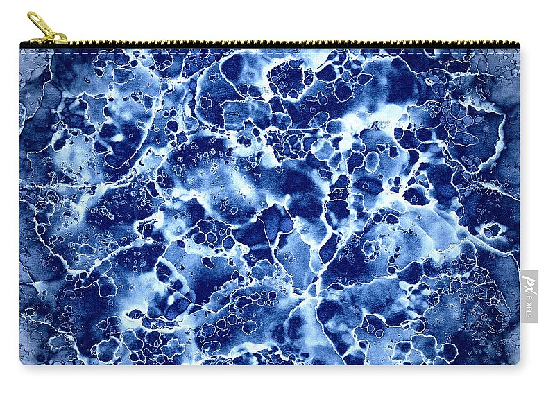 Blue Abstract Carry-all Pouch featuring the painting Abstract 1 by Patricia Lintner