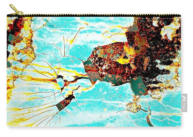 Abstract Art Carry-all Pouch featuring the photograph Sparky The Electric Dog by David Coleman