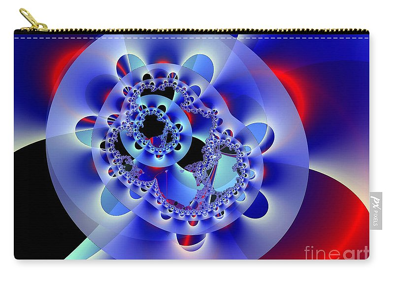 Fan Carry-all Pouch featuring the digital art Electric Fan by Ron Bissett