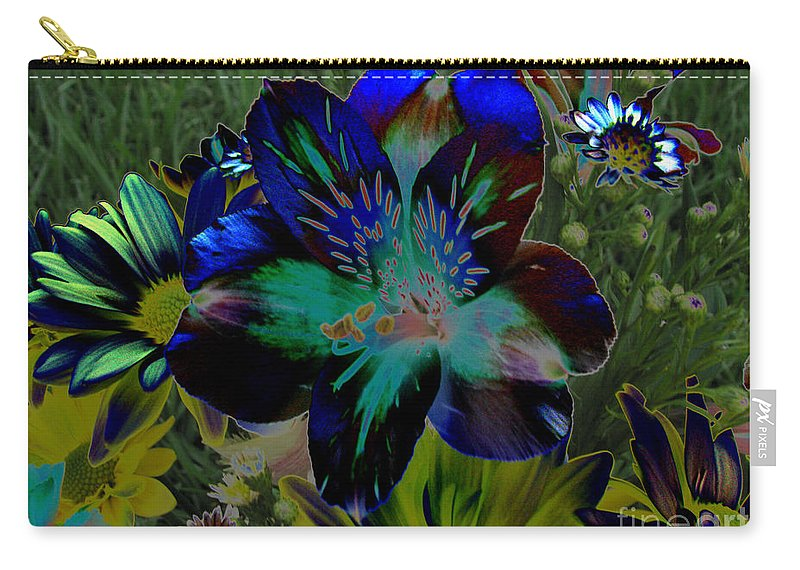 Art For The Wall...patzer Photography Carry-all Pouch featuring the photograph Electric Lily by Greg Patzer