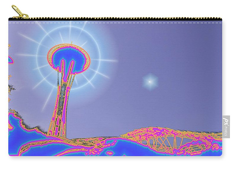 Seattle Carry-all Pouch featuring the photograph Electric Needle by Tim Allen