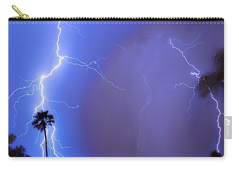Lightning Carry-all Pouch featuring the photograph Electric Night by James BO Insogna