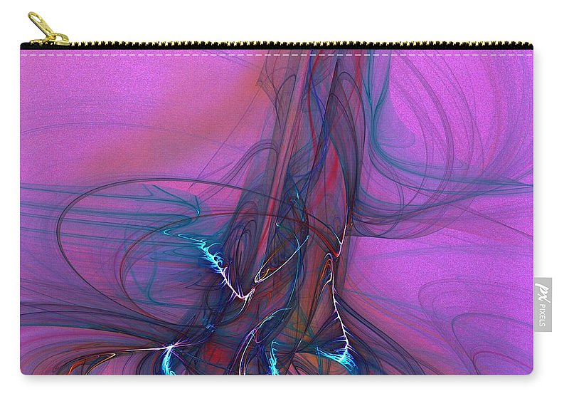 Fine Art Carry-all Pouch featuring the digital art Electric Pocket Rocket Orgasm  by David Lane