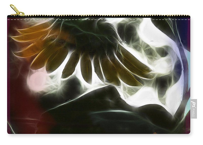 Tn Carry-all Pouch featuring the photograph Electric Sunflower by Ericamaxine Price