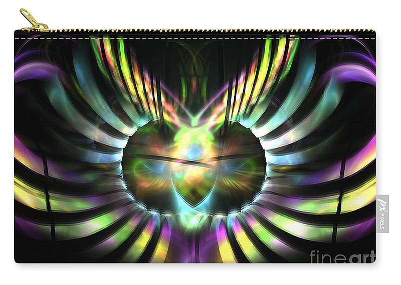 Apophysis Carry-all Pouch featuring the digital art Electric Wings by Kim Sy Ok