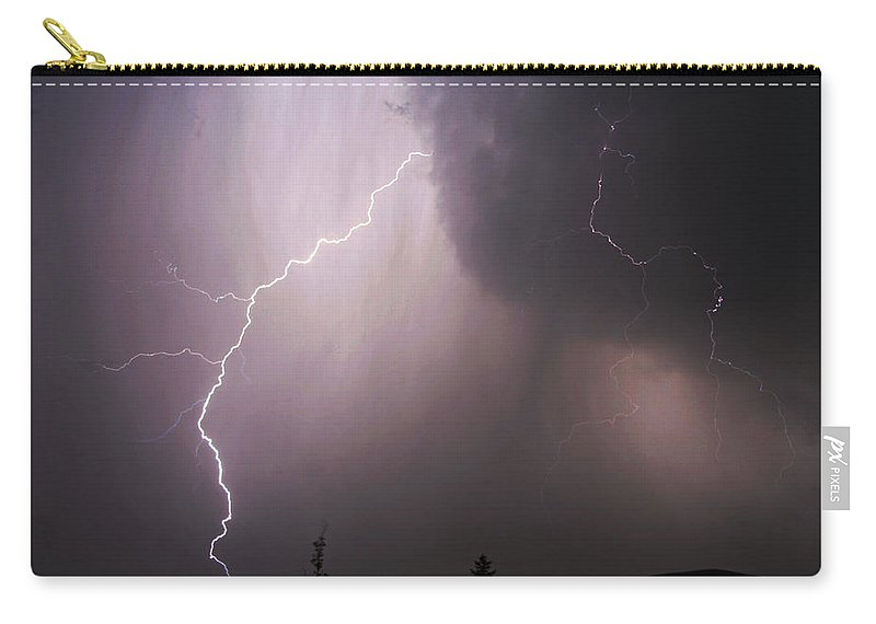 Lightning Carry-all Pouch featuring the photograph Electrified by Ben Zell