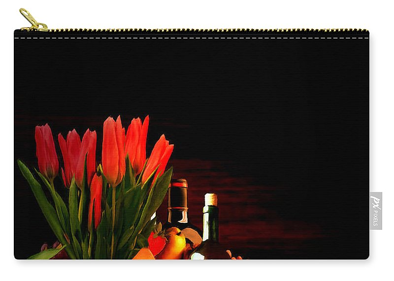 Wine Carry-all Pouch featuring the painting Elegance by Lourry Legarde