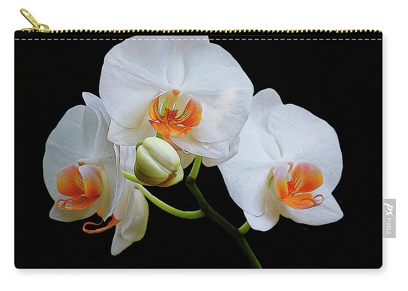 Phalaenopsis Carry-all Pouch featuring the photograph Elegance by TN Fairey