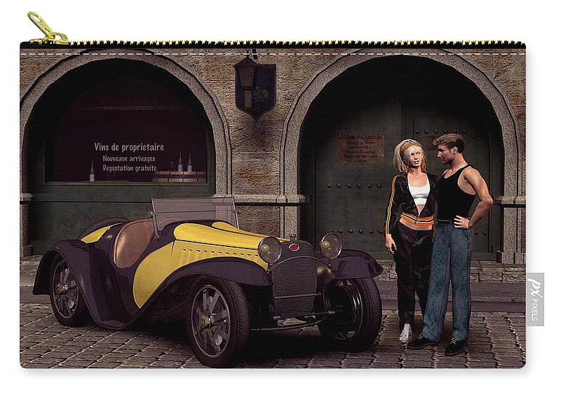 Cars Carry-all Pouch featuring the digital art Elegant 1930 by John Junek
