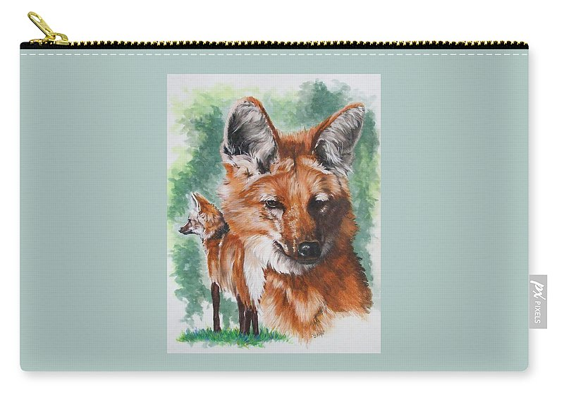 Canine Carry-all Pouch featuring the mixed media Elegant by Barbara Keith