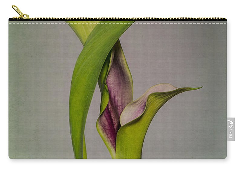 Flower Carry-all Pouch featuring the photograph Elegant Calla Buds by Patti Deters
