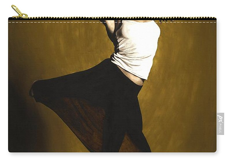 Elegant Carry-all Pouch featuring the painting Elegant Dancer by Richard Young
