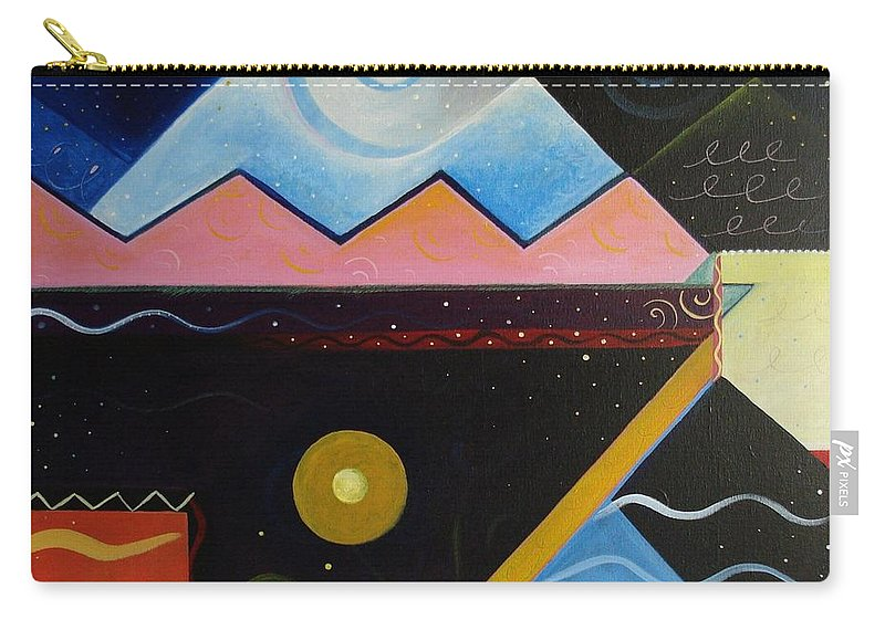 Dark Versus Light Carry-all Pouch featuring the painting Elements Of Light by Helena Tiainen