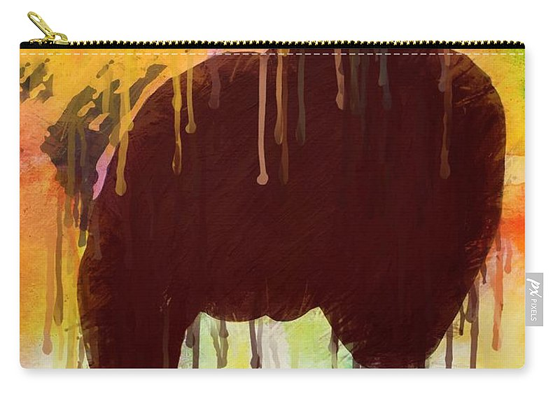 Elephant Carry-all Pouch featuring the mixed media Elephant by Amelle Eley