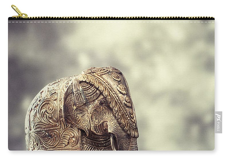 Antique Carry-all Pouch featuring the photograph Elephant Figure by Amanda Elwell