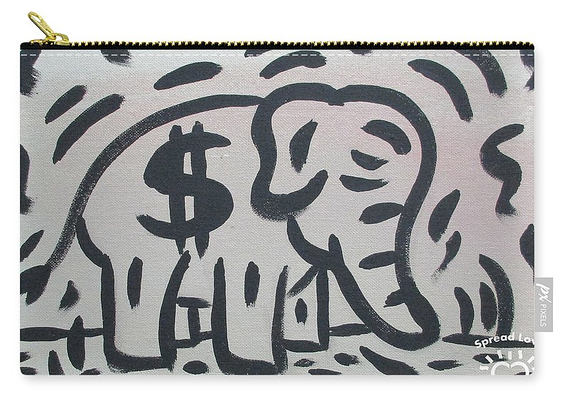 Abstract Carry-all Pouch featuring the painting Elephant by Parker Beaudoin