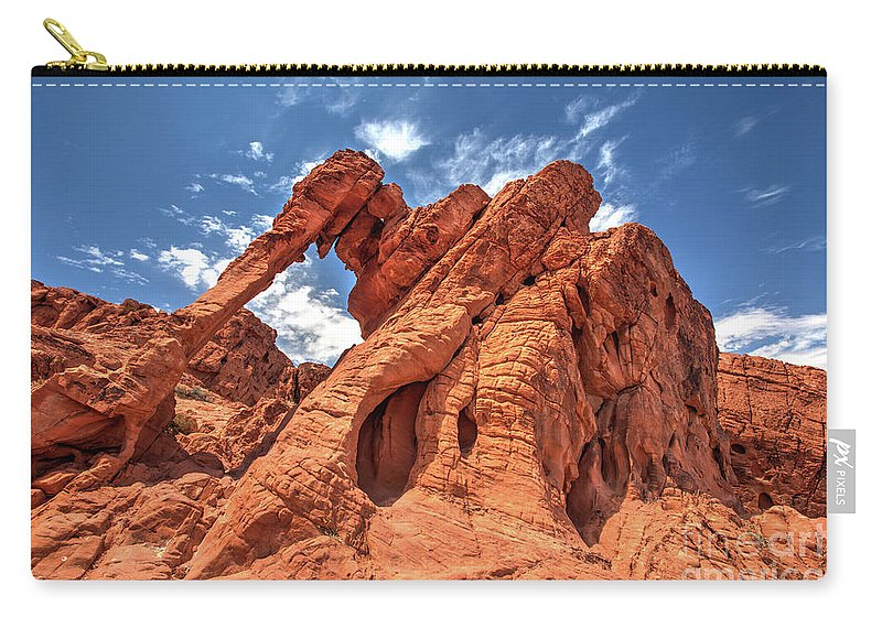 Elephant Carry-all Pouch featuring the photograph Elephant Rock, Valley Of Fire State Park, Nevada by Martin Williams