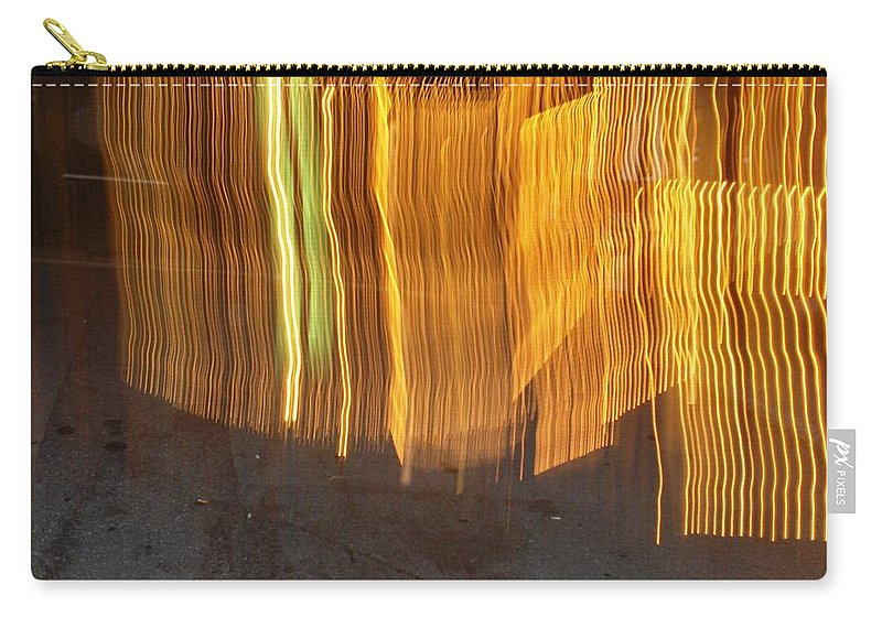 Photograph Carry-all Pouch featuring the photograph Eletric Fence by Thomas Valentine