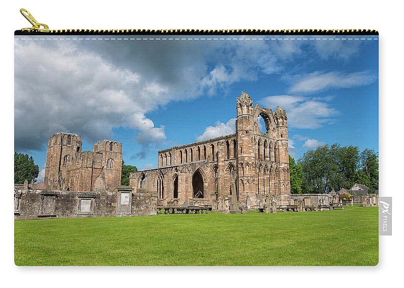 Architecture Carry-all Pouch featuring the photograph Elgin Cathedral, Scotland by Ivan Batinic