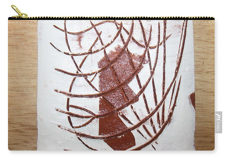 Jesus Carry-all Pouch featuring the ceramic art Elise - Tile by Gloria Ssali