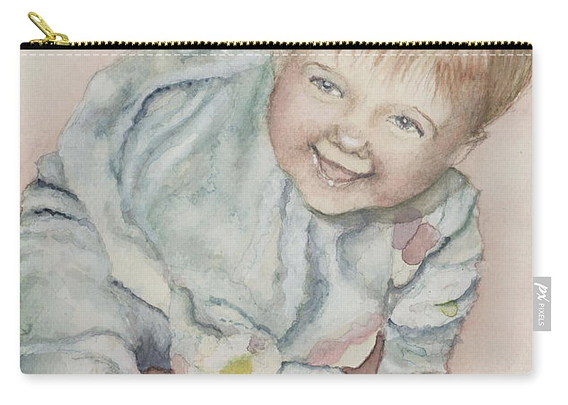 Girl Carry-all Pouch featuring the painting Elise by Nadine Rippelmeyer