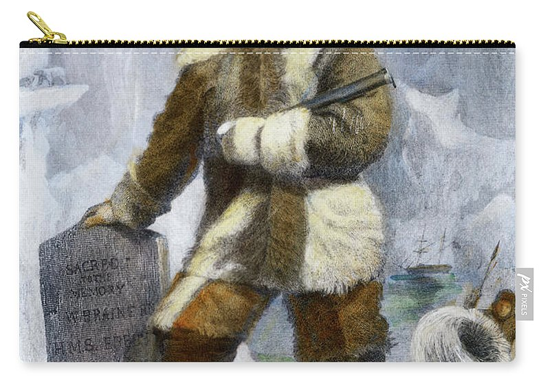 19th Century Carry-all Pouch featuring the drawing Elisha Kent Kane, 1820-1857 by Granger
