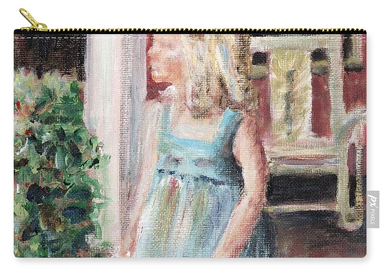 Girl Carry-all Pouch featuring the painting Elizabeth Anne by Nadine Rippelmeyer