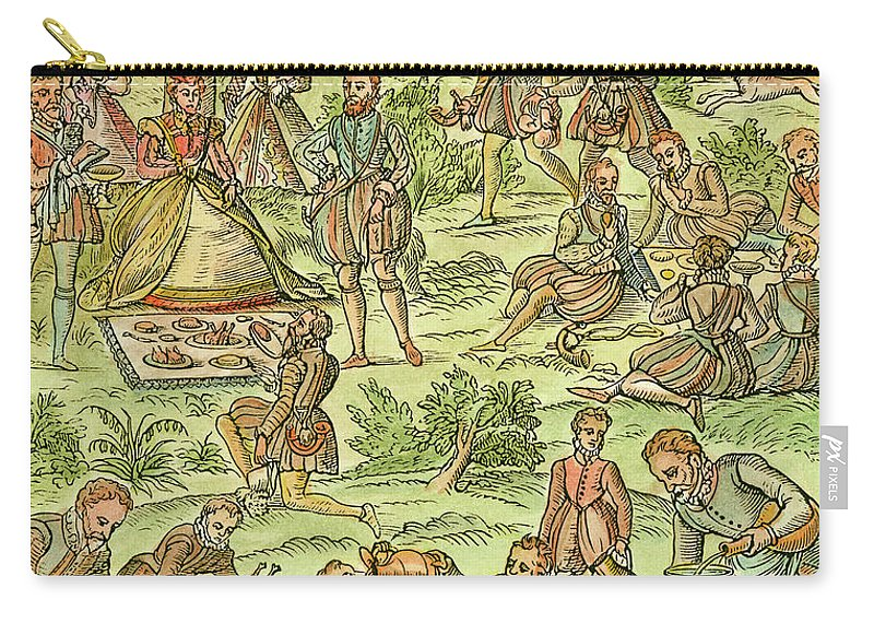 1575 Carry-all Pouch featuring the drawing Elizabeth I, 1533-1603 by Granger