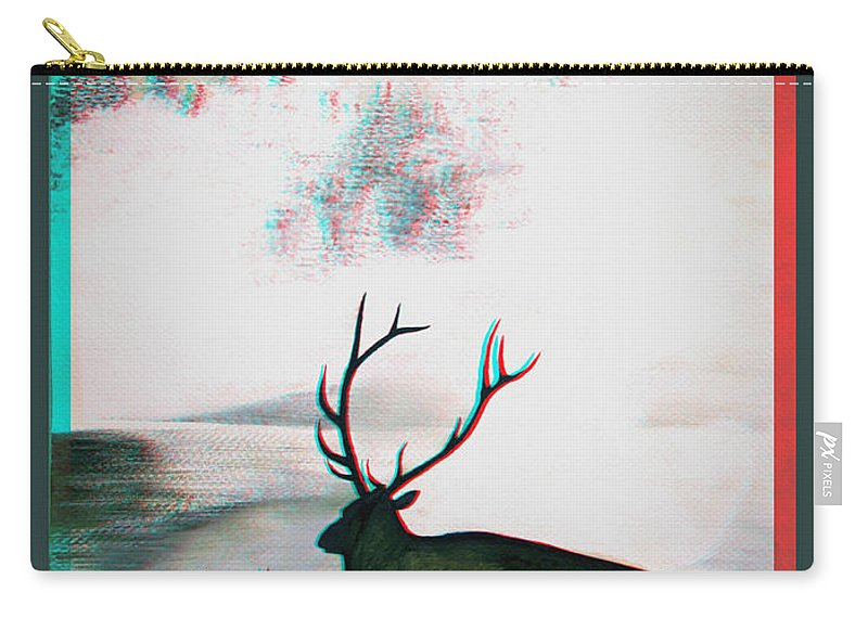 3d Carry-all Pouch featuring the photograph Elk - Use Red-cyan 3d Glasses by Brian Wallace
