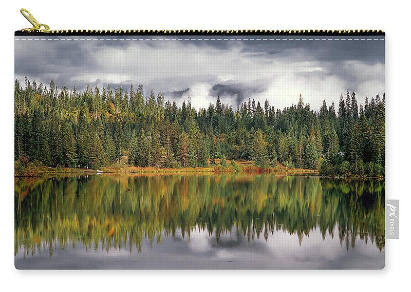 Idaho Scenics Carry-all Pouch featuring the photograph Elk Lake by Leland D Howard