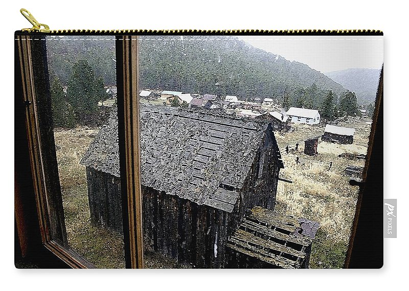 Elkhorn Carry-all Pouch featuring the photograph Elkhorn Snowfall by Nelson Strong
