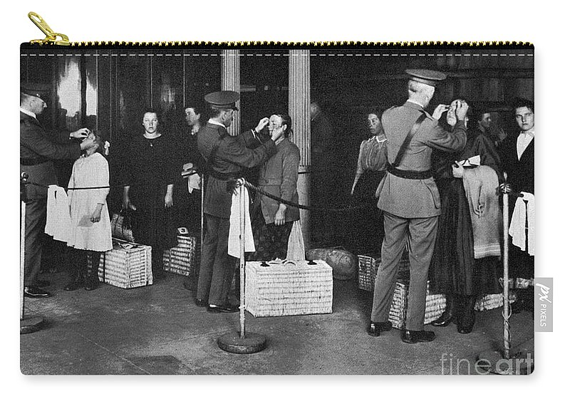 1910s Carry-all Pouch featuring the photograph Ellis Island: Examination by Granger