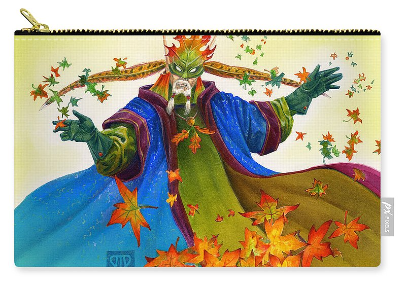 Elf Carry-all Pouch featuring the painting Elven Mage by Melissa A Benson