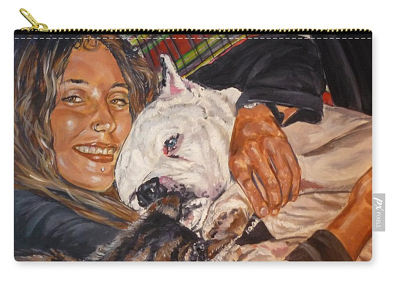 Pet Carry-all Pouch featuring the painting Elvis And Friend by Bryan Bustard
