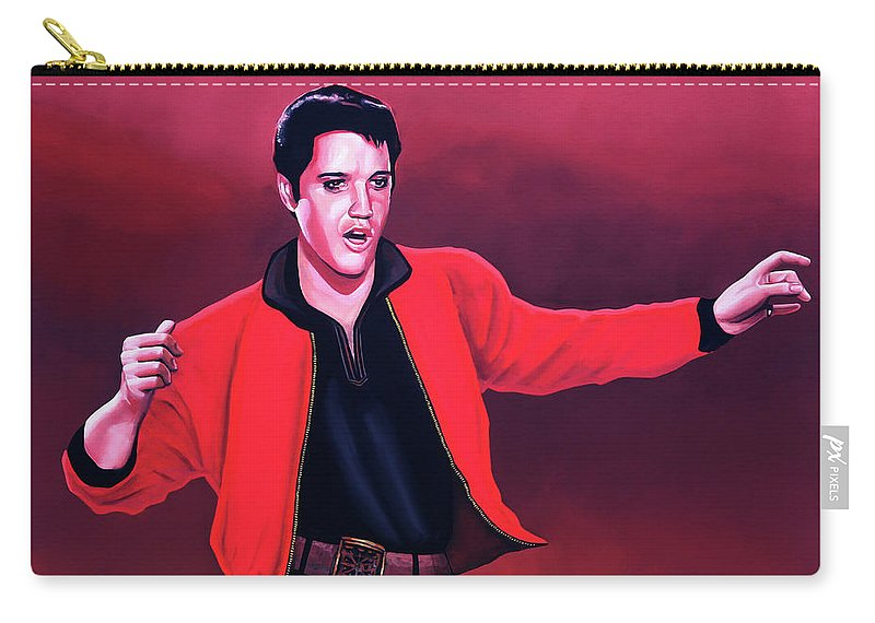 Elvis Carry-all Pouch featuring the painting Elvis Presley 4 Painting by Paul Meijering
