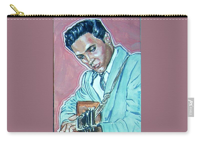 Elvis Presley Carry-all Pouch featuring the painting Elvis Presley by Bryan Bustard