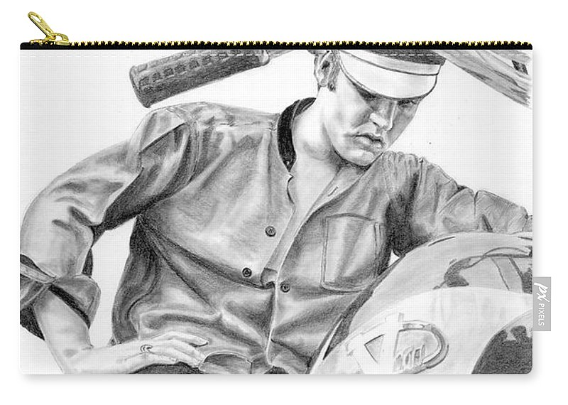 Singer Carry-all Pouch featuring the drawing Elvis Presley by Rob De Vries