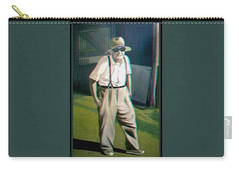 3d Carry-all Pouch featuring the photograph Elwood - 2d-3d Anaglyph Conversion by Brian Wallace